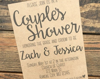 Couple's Shower Invitation