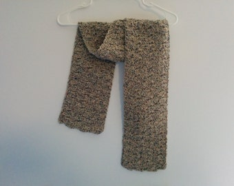 Beige and Blue Neck Scarf
