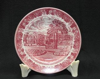 Staffordshire The Alamo Cradle Of Texas Liberty Plate