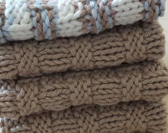 Dishcloths / Washcloths - Knit Set of 4