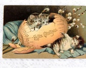 "Post Card ""Easter Greetings""  Gilded and Embossed Undivided Back  1900s  Free ship in USA"