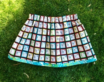 skirt with pockets | science kids | science skirt | science clothes | chemistry skirt | chemistry clothes | skirt size 4