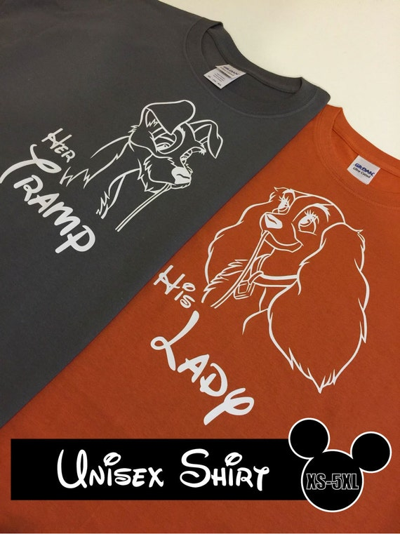 Disney Lady And The Tramp Colors Matching Couples Shirts Or