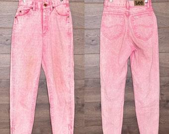 Vintage pink lee jeans