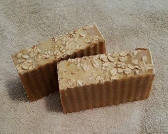 Natural Oatmeal soap, bar, Honey Citrus,