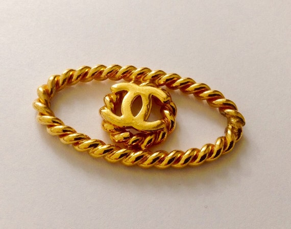 Authentic Chanel gold plated belt connector / necklace connector