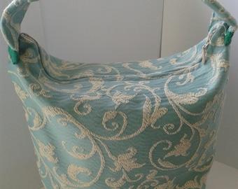 Fabric Door Stop in a handbag style