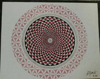 Print of the Mandala from my Lion Drawing