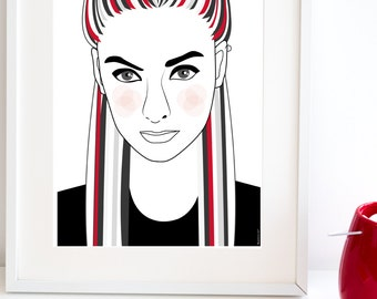 WAITING FOR YOU // Retro Illustration // For 21x30 and 30x40 cm frames
