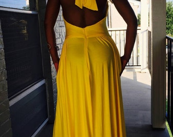 Jersey Maxi Halter Dress