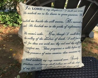 Psalms 23 Pillow