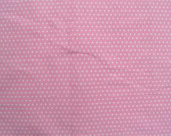 Travel Pillowcase - white polka dot on pink