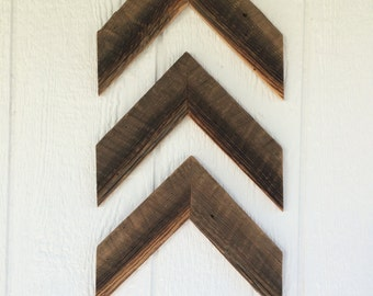 Chevron Arrows made from Reclaimed Barn Wood