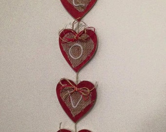 Valentines LOVE Wall hanging
