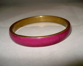 REDUCED cerise pink /claret bangle