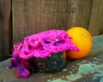 Orange Tea with doilie