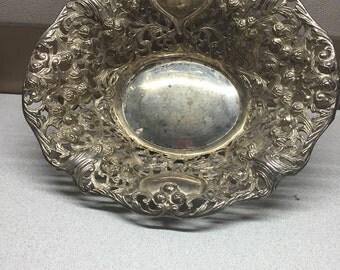 Decorative silver bowl