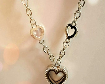 Memory Locket Necklace with Rhinestones