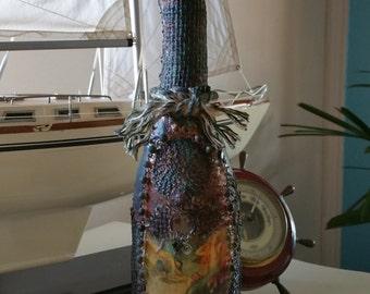 Altered Bottle ( Mystic Mermaid) Olive Oil Bottle