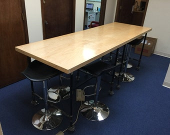 Reclaimed Door and Pipe Fitting Conference Room Table