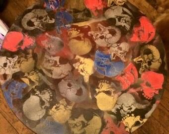 custom skulls end table