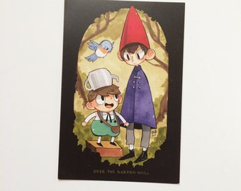 over the garden wall postcard