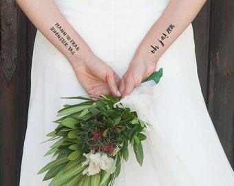 Temporary tattoos - Oh Hi - 2016 - wedding 2 x