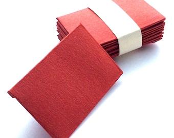 Mini envelopes.Tiny envelopes.Small envelopes.Wedding envelopes.Metallic envelopes.Metallic red.Curious metallics.Handmade envelopes.