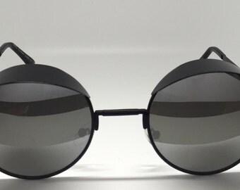 Women's Hooded Visor Round Sunglasses