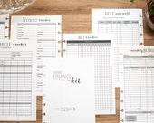 FINANCE Junior Circa Budget Inserts, Junior Arc Finance Kit, Dave Ramsey Budget Page, Debt Snowball, Half Letter Disc Bound Planner Inserts