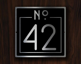 CUSTOM HOUSE NUMBERS Sign, Outdoor House Numbers Plaque, Custom House Numbers Plaque, House Numbers, Modern House Numbers, House Number Sign