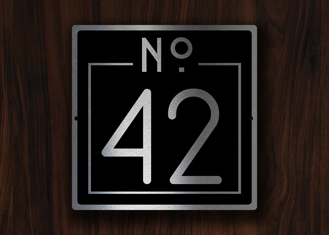 Custom house numbers sign outdoor house numbers plaque - Decorative house number signs ...