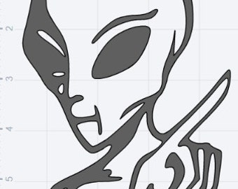 Alien 5 Pack Design Collection SVG DXF EPS Studio3 Studio 3 Cut Files
