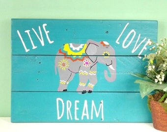 Aqua Wall Decor elephant wall decor | etsy