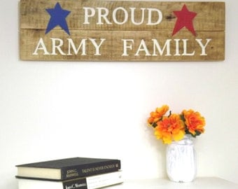 Americana Home Decor- Military Gift- Custom Wood Sign-Homecoming Sign-Patriotic Art- Personalized Family Sign