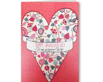 Wife - Anniversary Card - Happy Anniversary - Happy Anniversary Wife - Gorgeous Wife