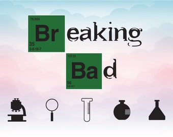 Breaking bad vector instant download file, Breaking bad SVG cutting file, TV series silhouette, DXF Png Eps