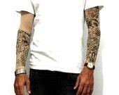 Temporary tattoo etsy for Justin bieber fake tattoo sleeve