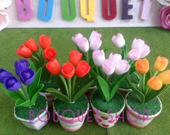 Tulip Flower Clay