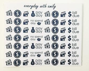 Everday money stickers