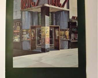 "Poster -  ""Drug Store"" by Richard Estes 1980 -"