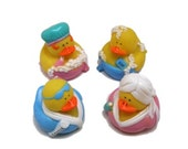 Bathtime Rubber Duckies (4), rubber duckies, bathtub duckie, spa duck, girls night out, party supplies, cupcake toppers