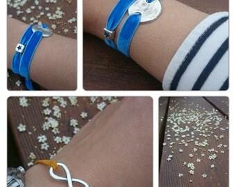 Infinity bracelet rubber