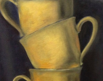 yellow cups