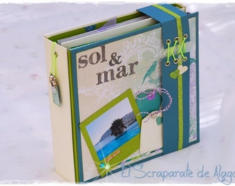 Tutorial Scrapbooking Album Sun & sea