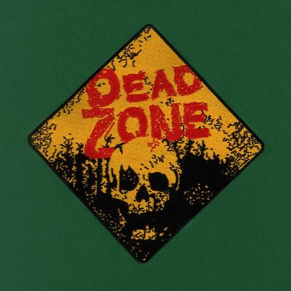 Dead zone sign precarious embroidery design