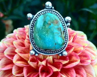 Royston Turquoise Ring- size 7- Sterling Silver