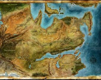 Dragon Age Thedas Map Poster Print