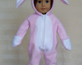 Bunny Suit Pajamas for 18 inch doll or American Girl doll