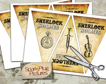 Sherlock Holmes Detective Bunting Banner